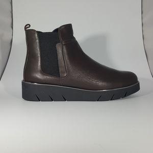 The Flexx Brown Leather Platform Bootie